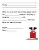 "Christmas ""Dear Santa"" cloze writing letter"