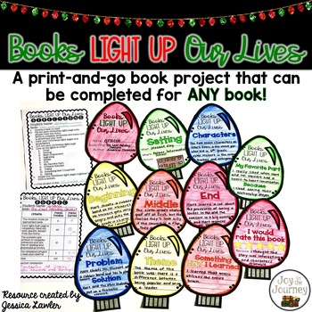 Christmas December Book Project for ANY Book