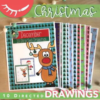 Christmas Art Activities (December Directed Drawings)