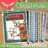 Christmas Art Activities (December Directed Drawings)