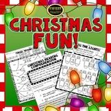 Christmas Worksheets First Grade Math and ELA   Digital and Print