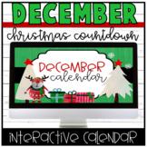 Christmas/December Interactive Calendar for Daily Work