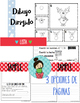 Christmas December Journal Prompts with Directed Drawings Spanish