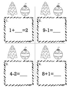 Christmas December Kindergarten {Scoot Game/Task Cards} Math Bundle