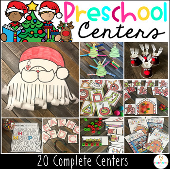 Christmas (December) Math and Literacy Centers and Activities for Preschool