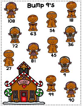 Christmas/December Multiplication Bump Games