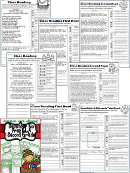 Christmas December No Prep ELA Pack (2nd Grade)