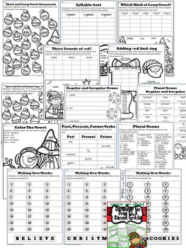 Christmas December No Prep ELA Pack (2nd Grade)