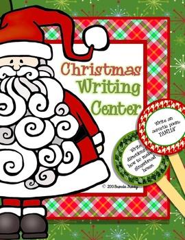 Christmas December Writing Workstation/Center Pack
