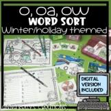 Christmas/December, o, oa, ow word sort