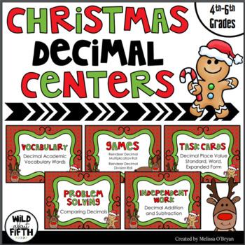 Christmas Decimal Centers Grades 4-6