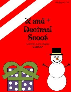 Christmas Decimal Scoot - Multiply and Divide 5.NBT.B.7