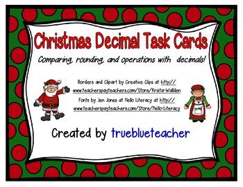 Christmas Decimal Task Cards