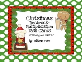 Christmas Decimals-Multiplication Task Cards