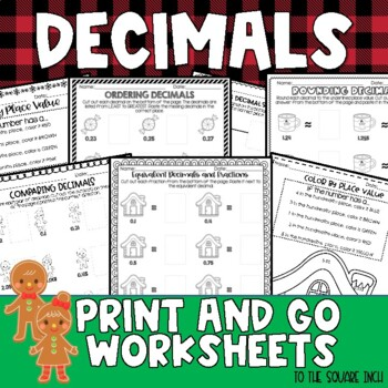 Christmas Decimals Worksheets