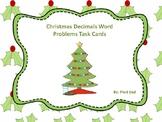 Christmas Decimals Word Problems Task Cards