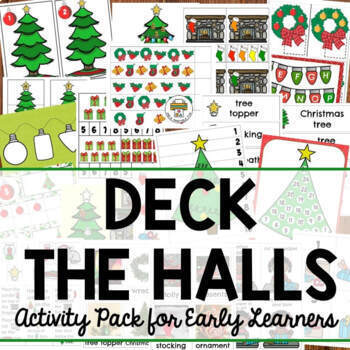 Christmas Deck the Halls Activities for Preschool, Pre-K and Tots