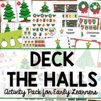 Christmas Deck the Halls Activities for Preschool, Pre-K and Tots