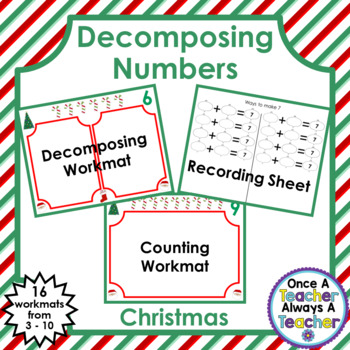 Decomposing Numbers from 3 – 10 • Christmas