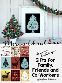 Christmas Decor-Framed Gifts for Teachers, Co-Workers, Fri
