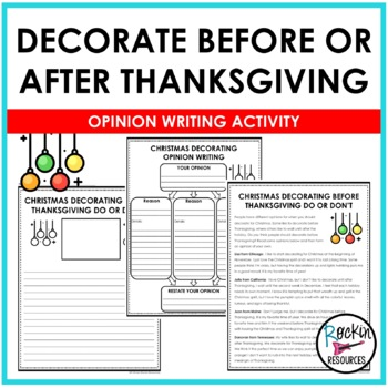 Christmas Decorating- Argumentative Writing