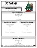 Christmas Decorating - Editable Newsletter Template - #60C