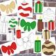 Christmas Decoration Clip Art Bundle 1 PNG JPG Blackline Commercial or Personal
