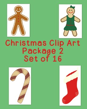 Christmas Decoration Clip Art Bundle 2 PNG JPG Blackline Commercial or Personal