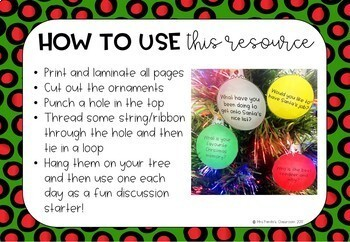 Christmas Decoration Discussion Starters