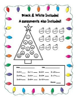 Christmas Decoration Multiplication Game