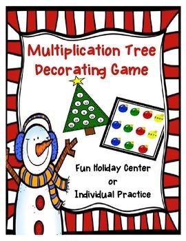 Christmas Decoration Multiplication Game