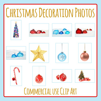 Christmas Decoration Photos / Photograph Clip Art for Commercial Use