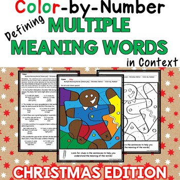 Christmas Defining Homonyms in Context