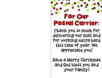 Christmas Delivery Thank You Note