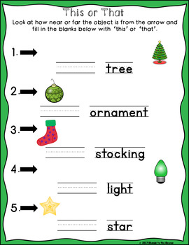 Christmas Demonstratives - This, That, These, and Those