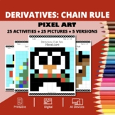 Christmas: Derivatives Chain Rule Pixel Art Mystery Pictures
