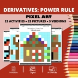 Christmas: Derivatives Power Rules Pixel Art Mystery Pictures