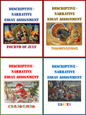 Descriptive-Narrative Essay Assignment Bundle for Holidays