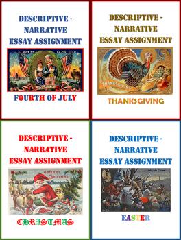 descriptive narrative essay assignment bundle for holidays tpt descriptive narrative essay assignment bundle for holidays