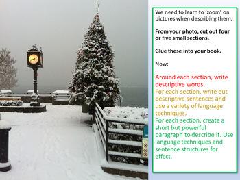 Christmas Descriptive Writing