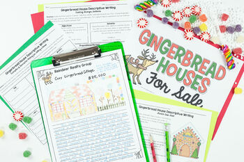 christmas descriptive writing for middle school gingerbread house
