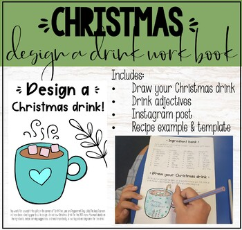 Christmas 'Design a Drink' Activity Work Book