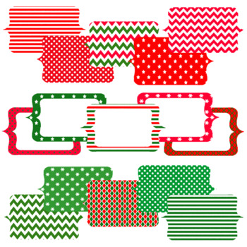 Christmas Designs Digital Papers and Frames Pack