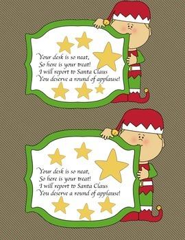 Christmas Desk Fairy Notes
