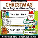 Christmas Desk Name Tags Editable