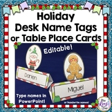 Christmas Desk Name Tags or Holiday Table Place Cards