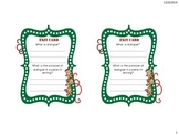 Christmas Dialogue Lesson Exit Cards