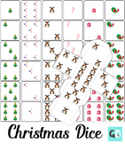 Christmas Dice, 3D Dice, Foldable Dice, Dice Dots