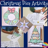 Christmas Roll to Create Coloring Activity