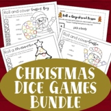 Christmas Dice Games - Set of 3 - Roll and Cover Party Games